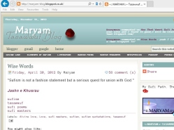 thumbnail image of Maryam Tasawwuf Blog