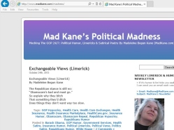 thumbnail image of Mad Kane's Notables Blog, Song Parodies, & Funny Poems