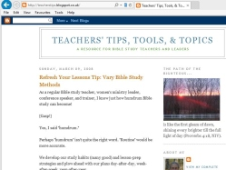 thumbnail image of Teachers' Tips, Tools, and Topics