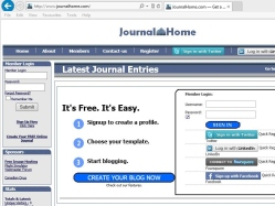 thumbnail image of JournalHome.com provides you journal space on the web for creating, editing, managing, and authoring