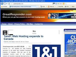 thumbnail image of GreatResponder.com web hosting blog