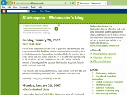 thumbnail image of Sitekeepers Internet marketing and SEO blog