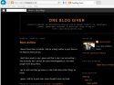 Small Screenshot picture of One Blog Given