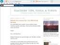 Small Screenshot picture of Teachers' Tips, Tools, and Topics
