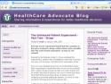 Small Screenshot picture of HealthCare Advocate Blog