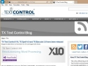 Small Screenshot picture of TX Text Control Blog