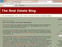 Small Screenshot picture of The Real Estate Blog