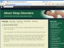 Small Screenshot picture of A Blog deals with all kinds of sleep disorder articles!