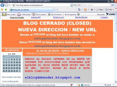 Small Screenshot picture of El blog Del Loco Bender