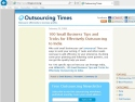 Small Screenshot picture of Blogsource: Outsourcing Times