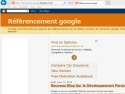 Small Screenshot picture of Referencement site dans google, positionnement site internet