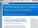 Small Screenshot picture of The Rest of the Story: Tobacco News Analysis and Commentary