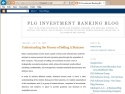 Small Screenshot picture of PLG Investment Banking | Business Broker Blogs
