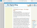 Small Screenshot picture of Six Sigma Blog
