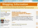Small Screenshot picture of Blogging Information