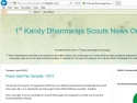 Small Screenshot picture of 1st Kandy Dharmaraja Scouts Group, Kandy, Sri Lanka, News Service